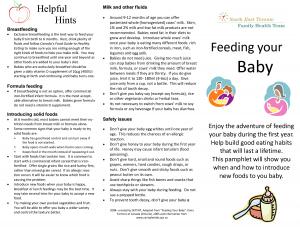 Breast feeding pamphlet
