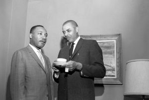 Rev. E Major Shavers with Dr. Martin Luther King Jr in San Diego