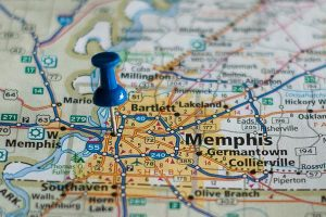 Image of Memphis map