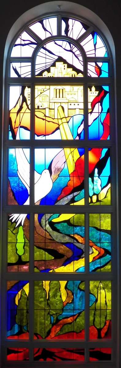 Stain glass window of the New Jerusalem