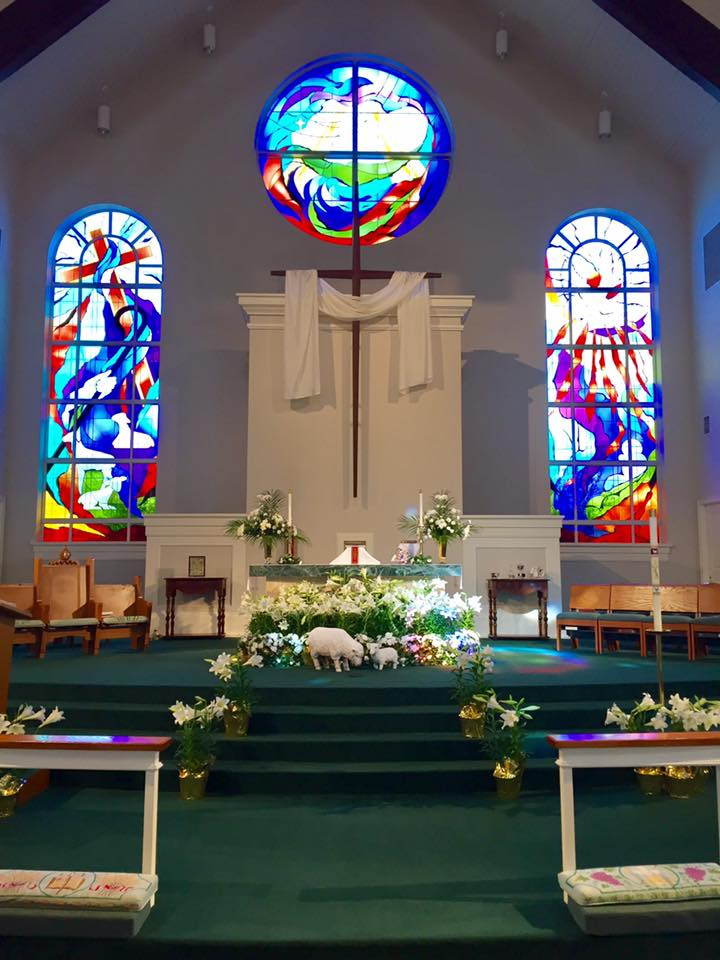 Church of the Good Shepherd decorated for Easter