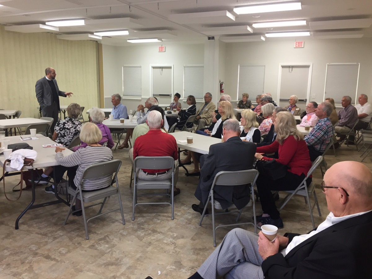 Parishioners of Good Shepherd gathered for a conversation about eschatology