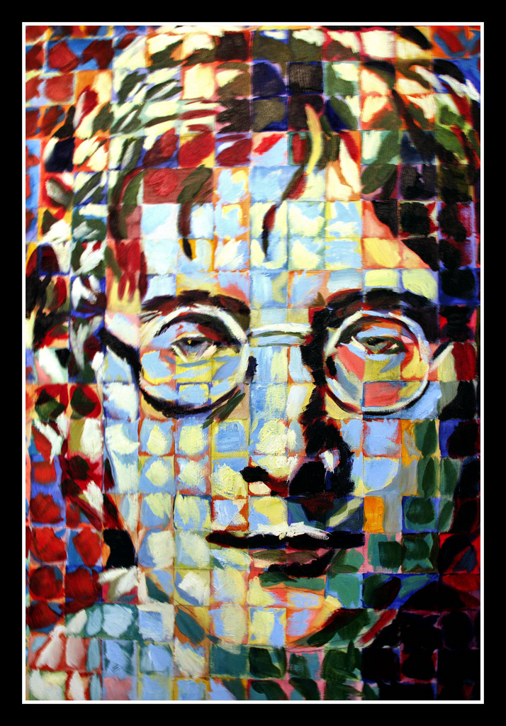 Painting of John Lennon