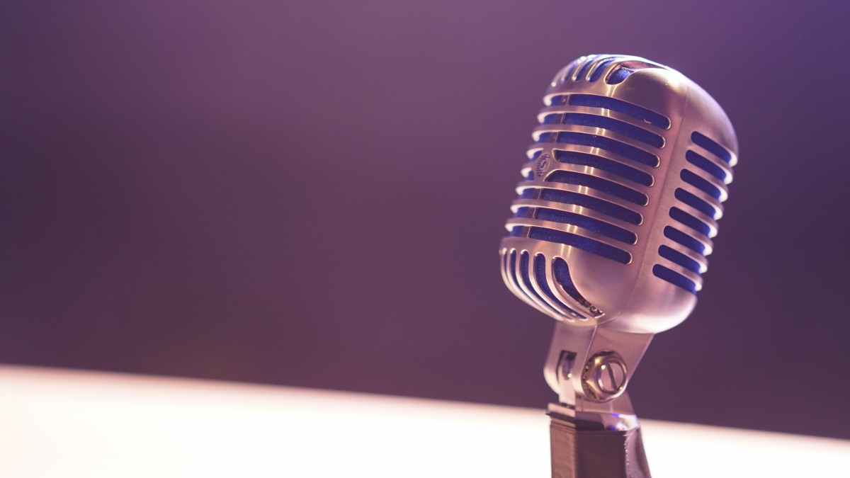 Microphone on table