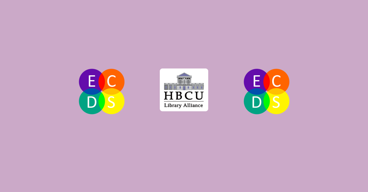 Banner featuring HBCU Library Alliance and ECDS logos