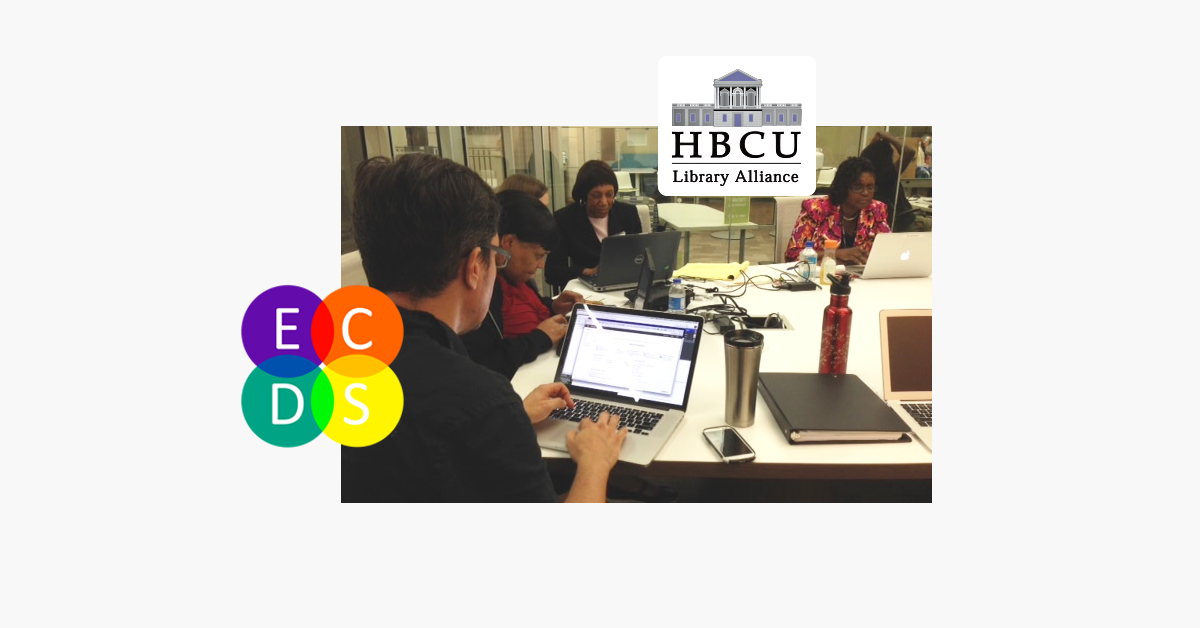 Banner featuring image of librarians at ECDS/HBCU summer institute
