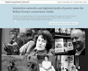 Screenshot of Belfast Group Poetry|Networks (click to expand)