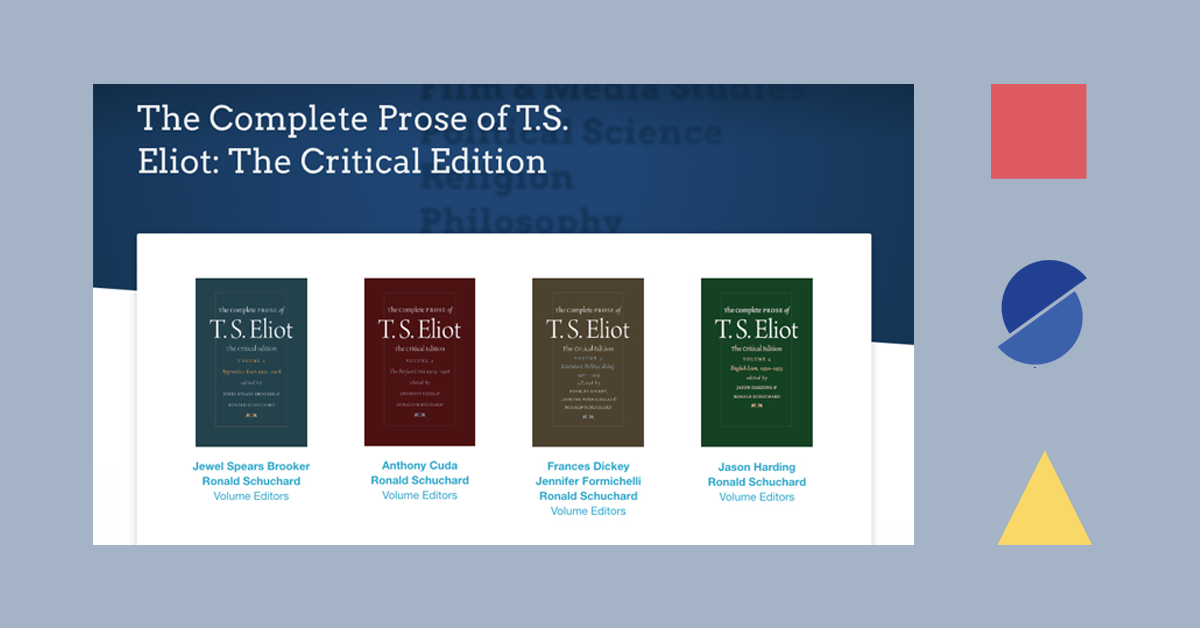 Banner featuring T.S. Eliot Prose titles and deconstructed MSA logo