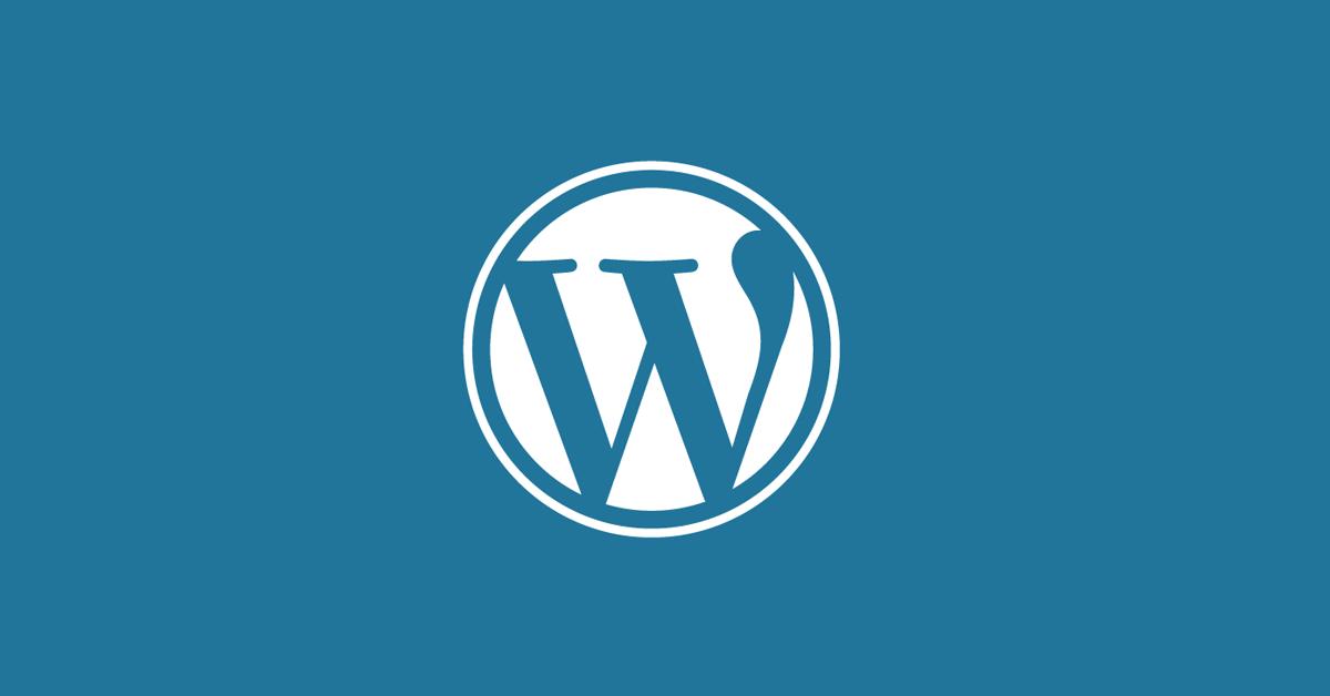 Banner featuring WordPress logo against blue background