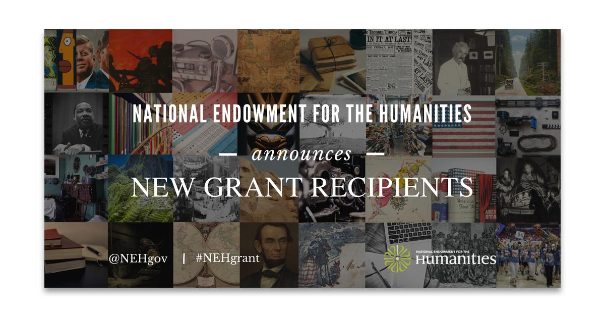 NEH Grants announcement banner