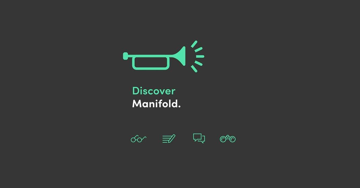 Banner featuring green horn logo against dark gray background