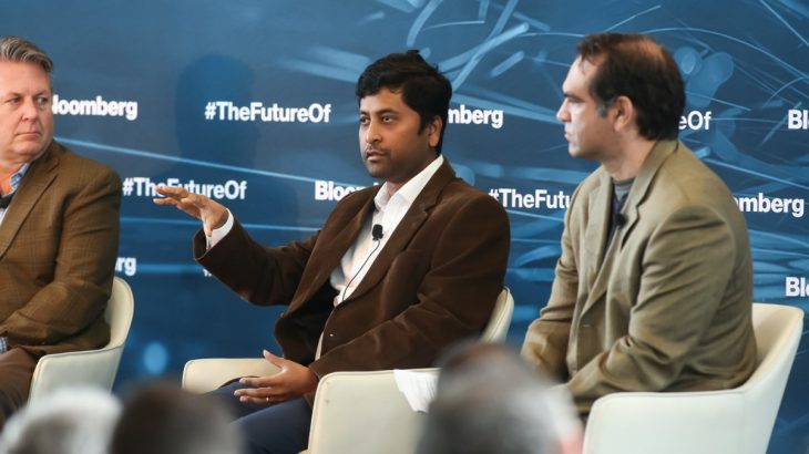Arya Basu speaking at Bloomberg Live event