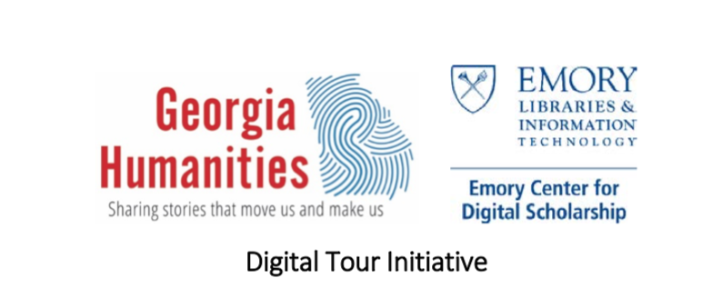 Digital Tour Initiative banner featuring Georgia Humanities logo and Emory Libraries logo