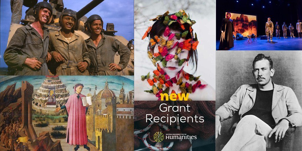Banner featuring image representing projects receiving an NEH grant