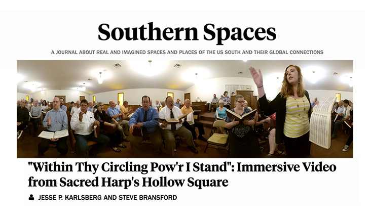 Banner featuring photo from Sacred Harp 3D video