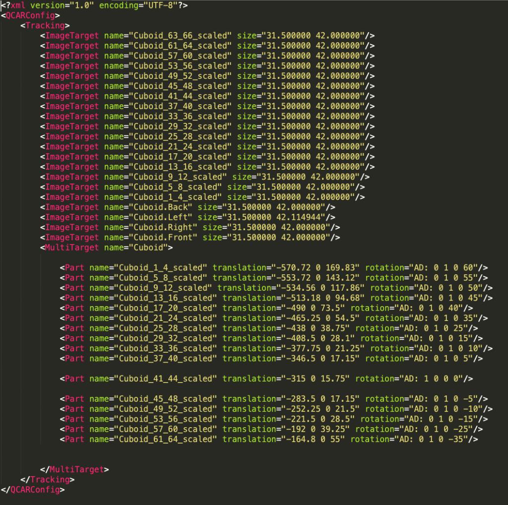 Screenshot of Cyclorama AR app coding
