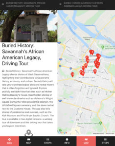 Example of a Georgia Humanities tour using OpenTour Builder