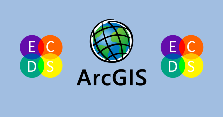 Banner featuring ArcGIS and ECDS logos
