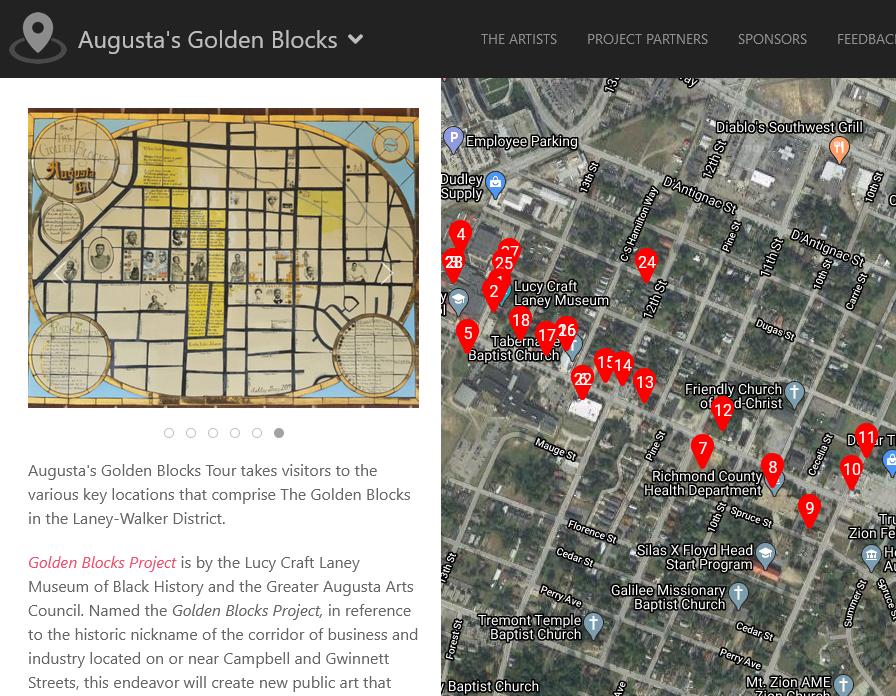 Screenshot of Augusta's Golden Blocks Tour