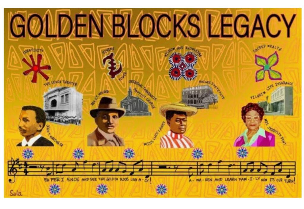 The Golden Blocks Legacy Mural by Audrey Sala Adenike Jeter Allen