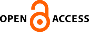 Open Access logo featuring rendering of open lock in thick orange lines, with orange dot in the middle of the circular lock portion
