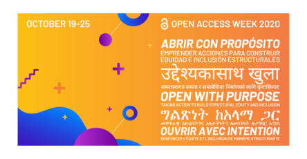 Open Access Week 2020, October 19-25.