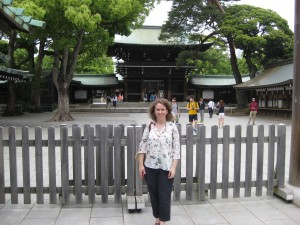 Dr. McGehee at Meiji Jingu  Credit: Adams