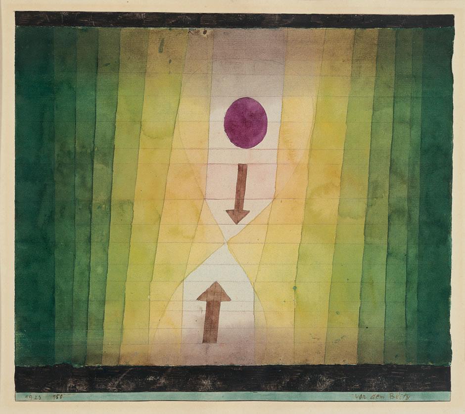 Paul Klee. vor dem Blitz (Before the Lightning), 1923