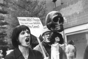 A Church of Euthanasia protest for abortion