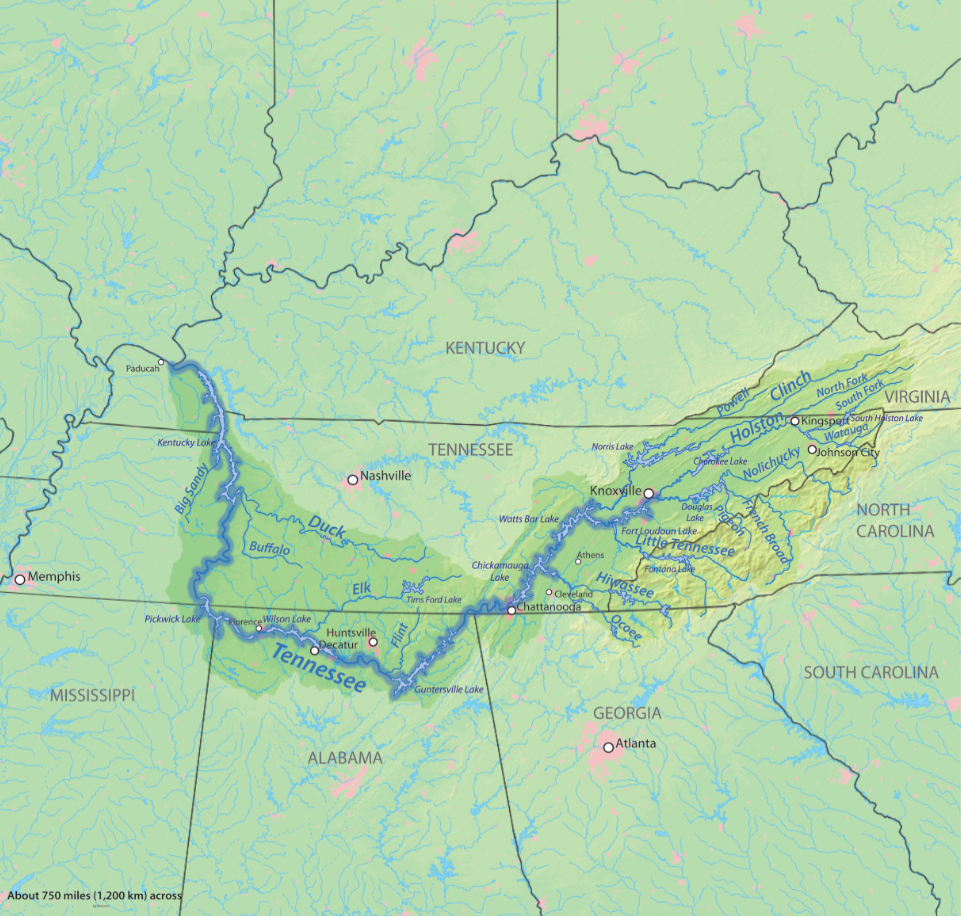 tennessee valley topographic map Tennessee Valley And The Tennessee Valley Authority Landscapes
