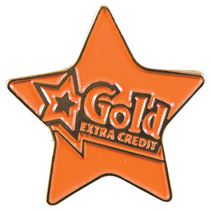 """Gold star with """"Extra Credit"""""""