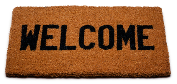 """Photo of a """"Welcome"""" mat"""