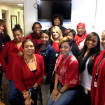 Photo of OIT staff wearing red clothing