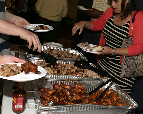 Photo of bbq in trays