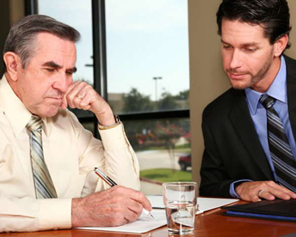 Photo of two men in a meeting
