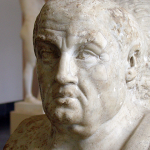 Photo of an ancient marble bust of Seneca
