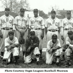 Old photo of a baseball team