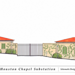 Gambrell Road elevation illustration of new substation