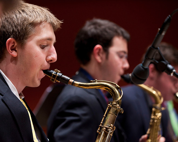 Photo of an Emory student jazz ensemble