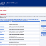 Screen shot of Emory's Listserv home page