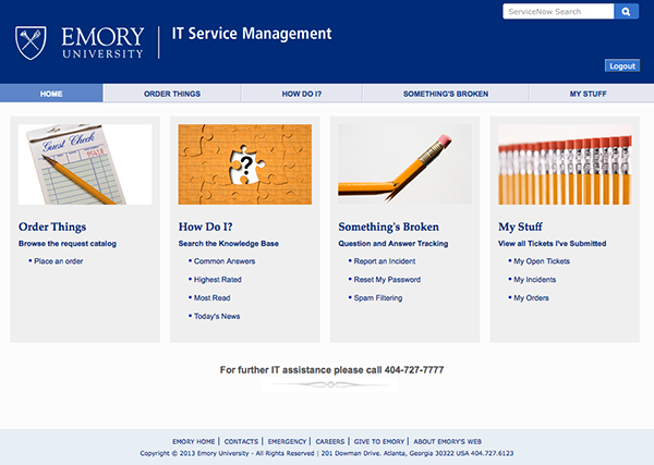 Screen image of new web page