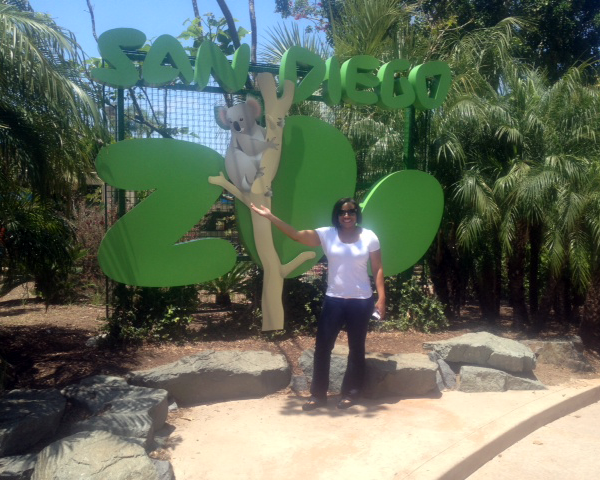 Photo at the San Diego Zoo main entrance