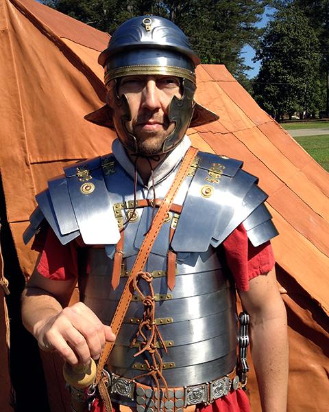Photo of man in ancient Roman attire