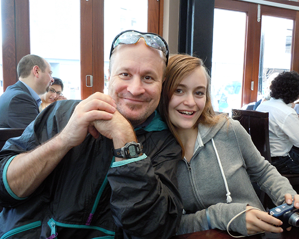 Photo of Kelly Bray and his daughter Caroline
