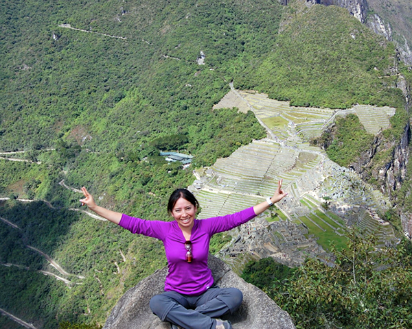 Photo of Jocelyn Ramirez visiting Machu Picchu