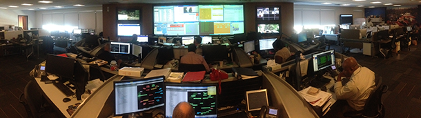 Photo of the TOC (Technical Operations Center)