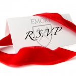 Photo of a red ribbon and a R.S.V.P. card