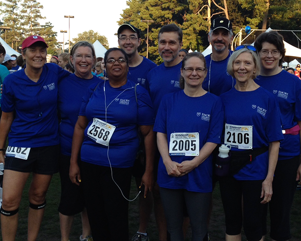 Group photo of LITS Winship 5K team