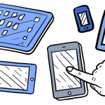 sketches of smart mobile devices