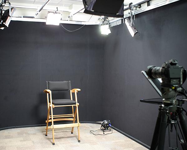 Photo of an empty recording studio